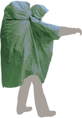 Terra Incognita Дождевик Ponchobag L-XL, green, L-XL