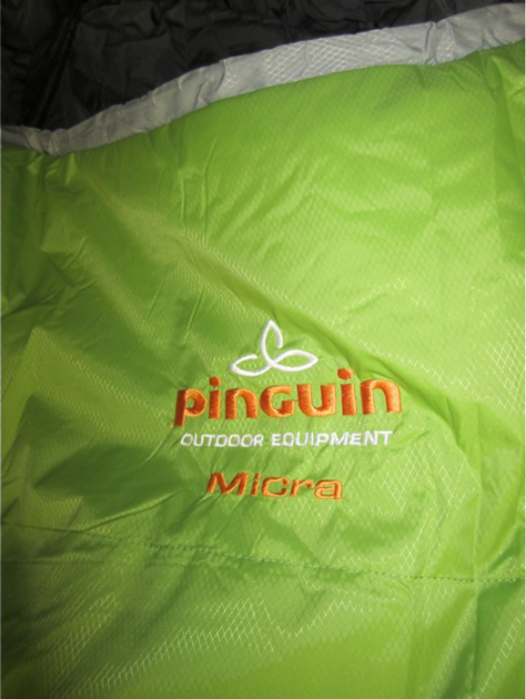 Спальник Pinguin Micra NEW (EN 6/1/-14°C), green, 195, L