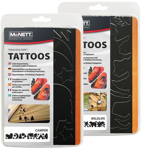 Фігурні латки McNett Tenacious Tape Tattoos