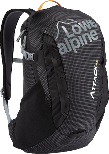 Рюкзак Lowe Alpine Attack 25 New, Black/Tangerine